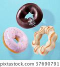 Tasty donut set 37690791