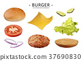 Hamburger ingredients set 37690830