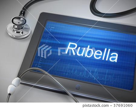 rubella word displayed on tablet 37691060