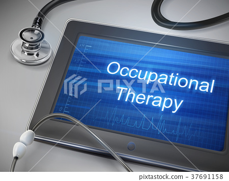 occupational therapy words displayed on tablet 37691158