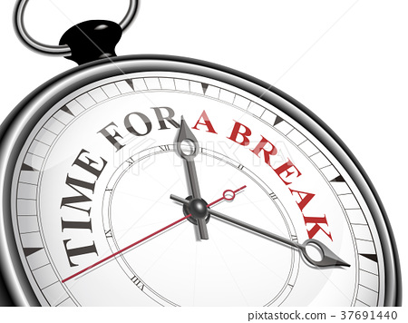 time for a break concept clock 37691440