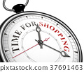 time for shopping concept clock 37691463