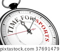 time for sports concept clock 37691479