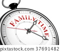 family time concept clock 37691482