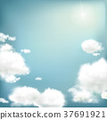 blue sky with clouds background 37691921