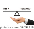 balance between risk and reward holding by realistic hand 37692116