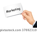 marketing card in hand 37692310