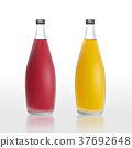 juice bottles set template isolated on white 37692648