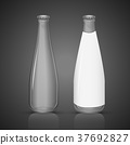 glass bottle with blank label 37692827