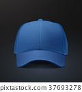 blank hat in blue 37693278