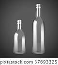 empty glass bottle set 37693325
