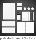 blank corporate identity stationery set 37693517