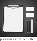 blank corporate identity stationery set 37693613