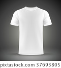 white T-shirt template 37693805