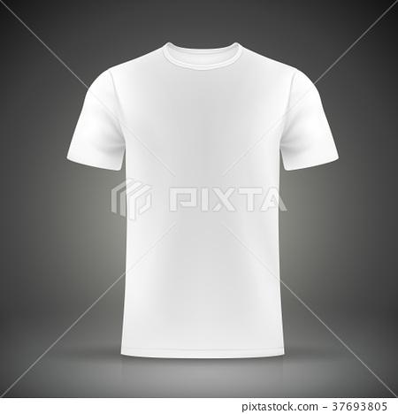 white T-shirt template 37693805