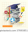 education concept in flat design 37693851