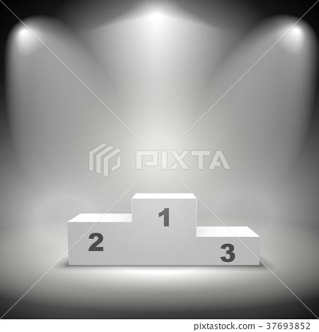 illuminated winners podium 37693852
