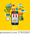 mobile payment concept with related elements 37693883