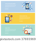 application marketing concept in flat design 37693969