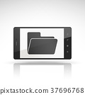 file icon on mobile phone 37696768