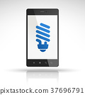 bulb icon on mobile phone 37696791
