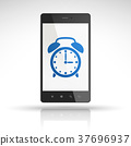 clock icon on mobile phone 37696937