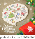 collage style Christmas elements 37697062