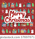 lovely hand drawn Christmas elements 37697071