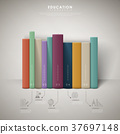 education infographic design with colorful books 37697148
