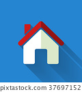 colorful flat design house icon 37697152