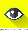 colorful flat design eye icon 37697300