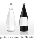 glass bottle with blank label 37697742