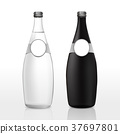 glass bottle with blank label 37697801