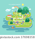 flat design for eco green concept 37698358
