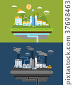 flat design for green energy and pollution 37698463
