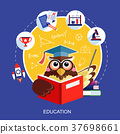 flat design for education concept with an owl 37698661