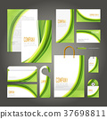 ecology concept corporate identity template set 37698811