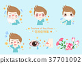 boy with hay fever 37701092