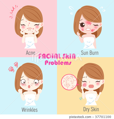 woman with facial skin problems 37701100