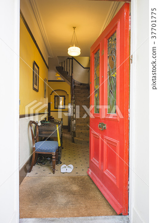 Entrance of a fashionable house in Europe 37701775