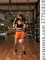 Fighter in gym 37702828