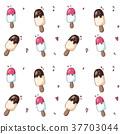 cream, ice, pattern 37703044