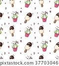 cream, ice, pattern 37703046