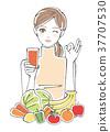 스무디 야채 과일 여성 <오렌지> 37707530