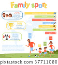 family, sport, infographic 37711080