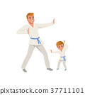 father, karate, son 37711101