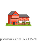 vector, house, building 37711578