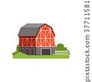 farm, barn, vector 37711581