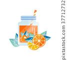 orange, lemon, vector 37712732