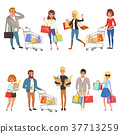 shopping, people, set 37713259